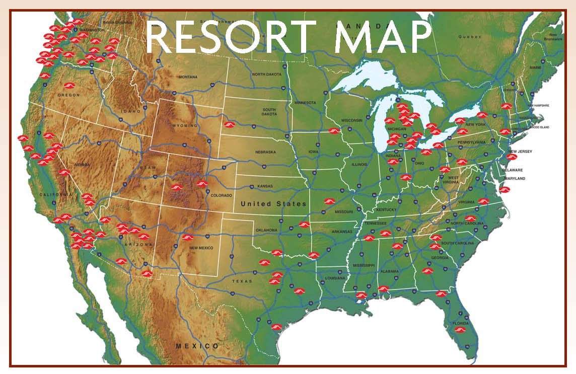 Resorts of Distinction Map